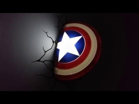 Marvel Avengers 3D LED Wall Light