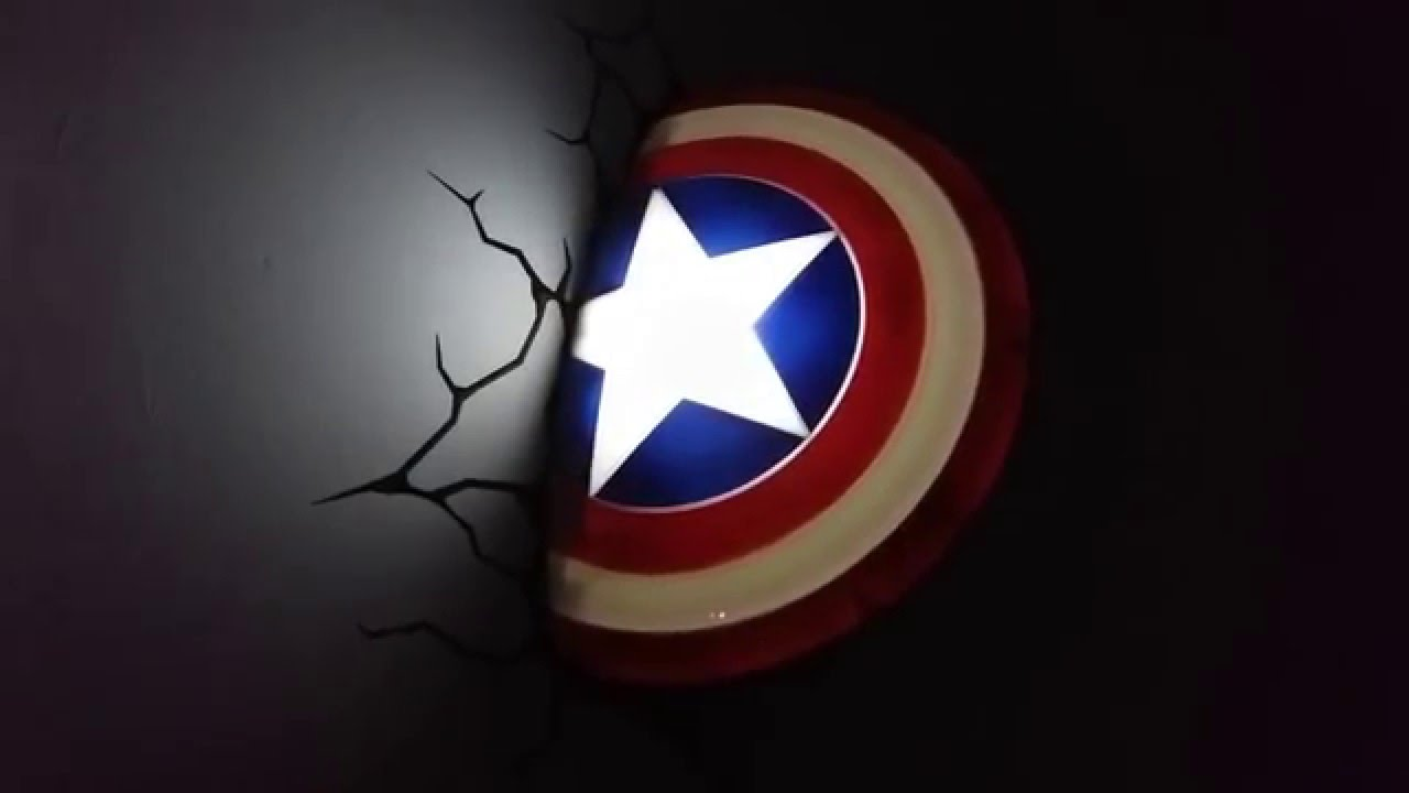 Marvel Avengers 3d Led Wall Light Youtube