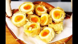 일식 맛계란 튀김 / 반숙 계란 삶는 방법 / 하우매니…