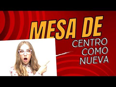 como reparar una mesa de centro