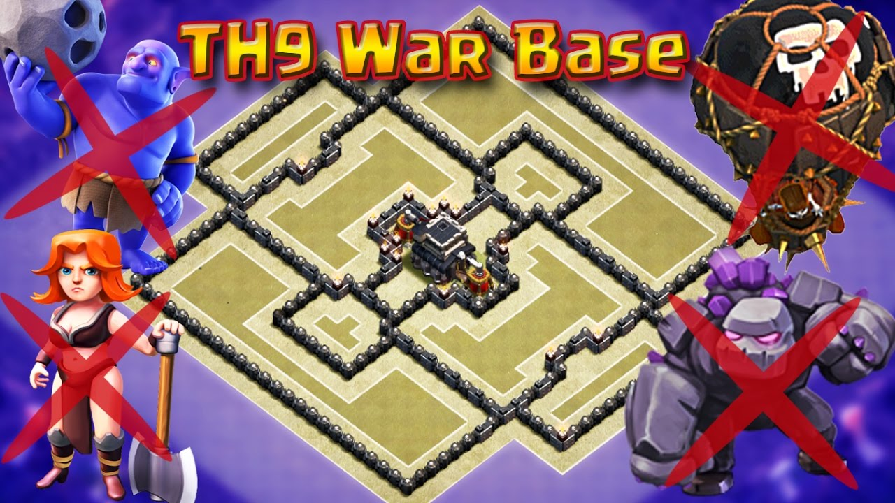 Unbeatable Th9 War Base 4