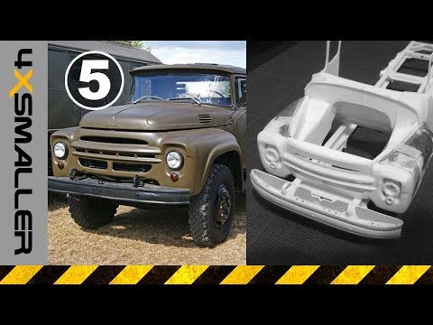 Scratch Building a Model of ZIL-130 Soviet Military Truck in 1/35 Scale (Part 05) - Fenders