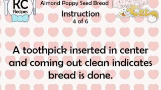 Almond Poppy Seed Bread - Kitchen Cat