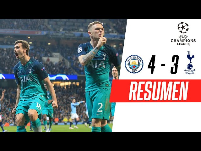 Manchester City - Tottenham [4-3] | GOLES | Cuartos de final (VUELTA) | UEFA Champions League