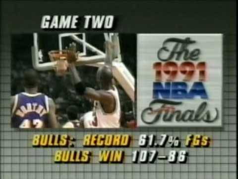 1991 NBA Finals: Bulls at Lakers, Gm 4 part 2/13 - YouTube