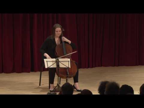 Melia Watras: Prelude for cello solo (2014); Sæunn Thorsteinsdóttir, cello
