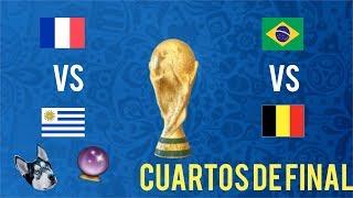 mi PERRO pronostica CUARTOS DE FINAL ( Uruguay vs Francia, Brasil vs Bélgica)