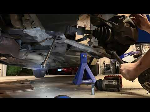 2003 Saab 9-3 how to replace lower control arms