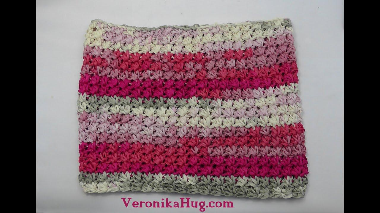 Häkeln - Loop ENNA im Sternchenmuster Woolly Hugs BANDY Veronika Hug ...