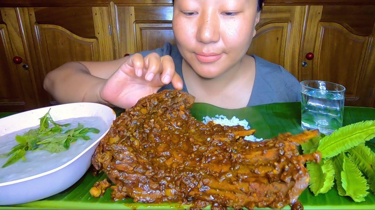 Spicy Wild Boar Ribs And Taro Root Chutney Mukbang