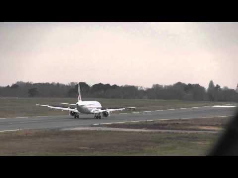 Air France A321 landing rwy 27 at Biarritz (LFBZ/BIQ)