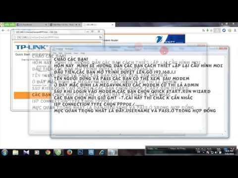 Hướng dẫn đặt lại cấu hình modem TP link TD 8817