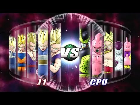 Dragon Ball: Raging Blast 2 Team SSJ2 VS VILLAINS