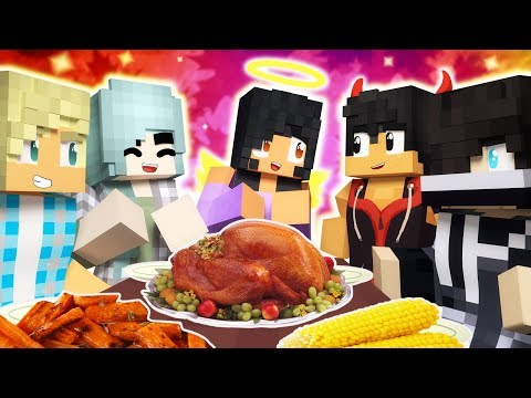 Thanksgiving Traditions | Angelsville Minecraft Survival [Ep.11]