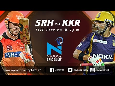 Live IPLT20 : Kolkata Knight Riders vs Sunrisers Hyderabad match preview on Cric Gully