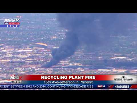 WATCH: Massive Fire In Phoenix at a Recycling Center (FNN)