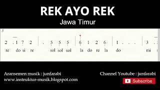 not angka rek ayo rek - lagu daerah tradisional nusantara indonesia - doremifasol