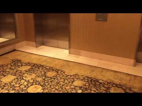 Main OTIS Elevonic 411M Traction Tower Elevators @ Beverly Hilton, Beverly Hills, CA