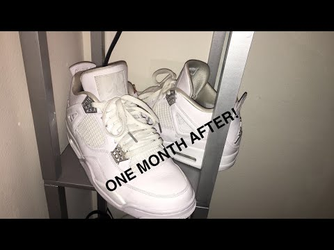 WHAT HAPPENS AFTER A MONTH OF WEARING PURE MONEY 4s!