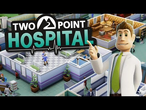 Building My First Hospital  Hospital Tycoon Sim  Two Point Hospital Beta Gameplay Part 1