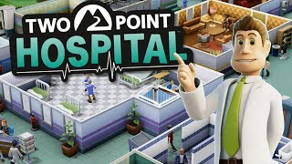 Building My First Hospital - Hospital Tycoon Sim - Two Point Hospital Beta Gameplay Part 1
