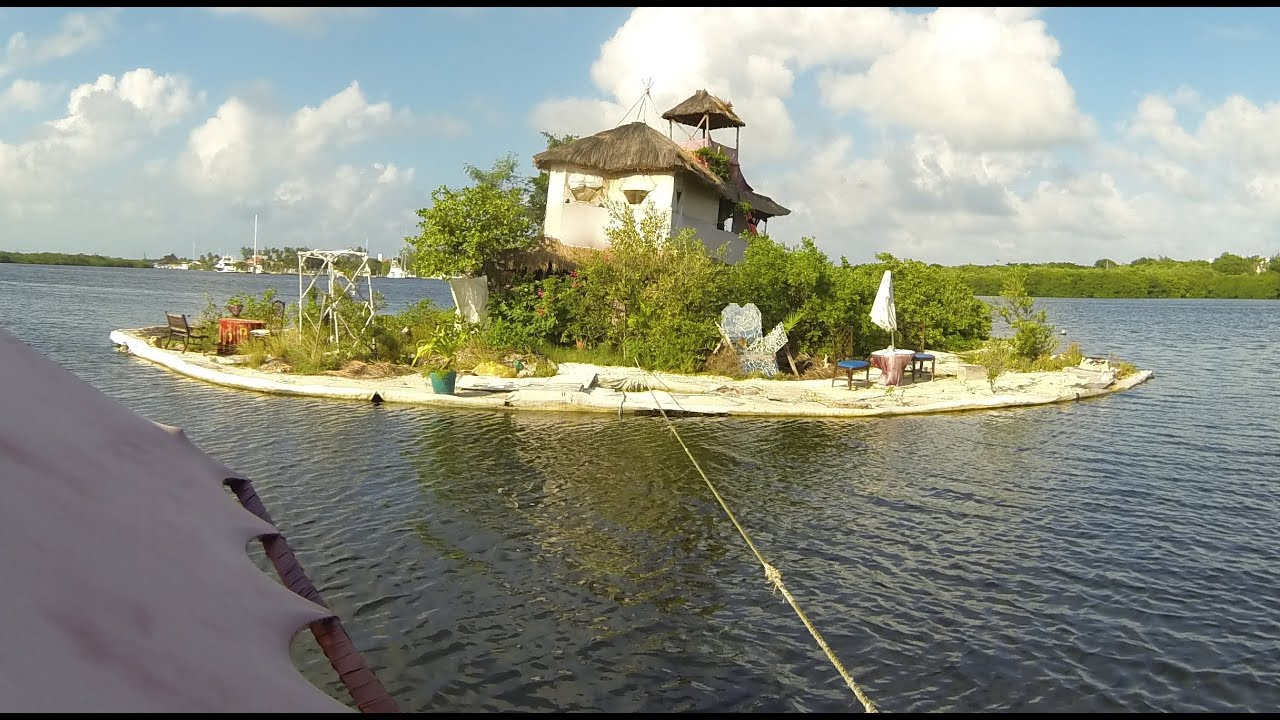 An Island Made From Plastic Bottles By Richart Sowa Youtube