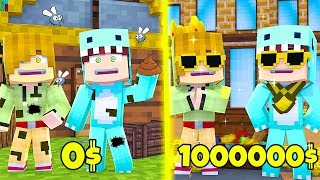 WE GO FROM POBRES TO RICH *Bank Robbers* 😱 MINECRAFT BE BE MILO + ROBLOX