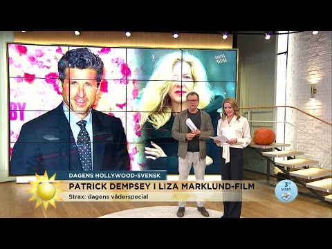 Patrick Dempsey i Liza Marklund-film - Nyhetsmorgon (TV4)