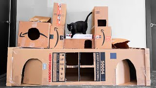 every Amazon delivery gets added to the kitty fort for one week