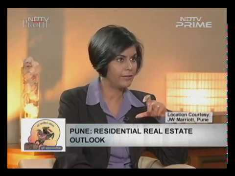 Mr. Rohit Gera on NDTV Profit talking about Pune's Rising real Estate and the data that supports it