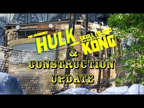 Universal Orlando Resort Construction Update 5.26.16 HUMANS ON KONG, Hulk & Much More!