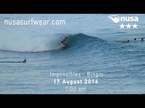 17-08-2016 /✰✰✰/ NUSA's Daily Surf Video Report from the Bukit, Bali.