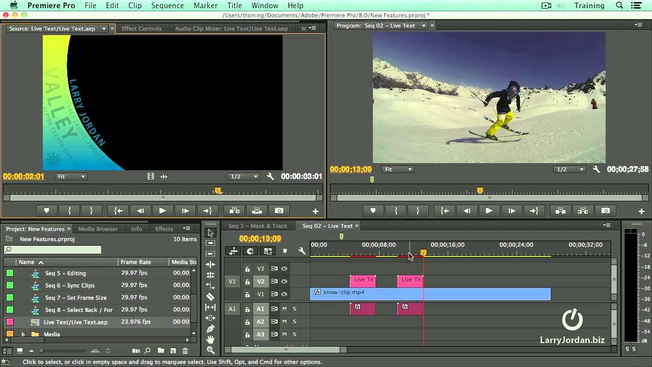 Using Live Text Templates Inside Premiere Pro CC (2014) - YouTube