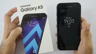 Samsung Galaxy A5 2017 Unboxing amp Overview Indian Dual sim Unit