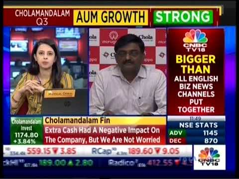 CNBC TV18 | Trading Hour | 31/01/2019 | Mr Arulselvan D – Executive Vice President & CFO, Chola.