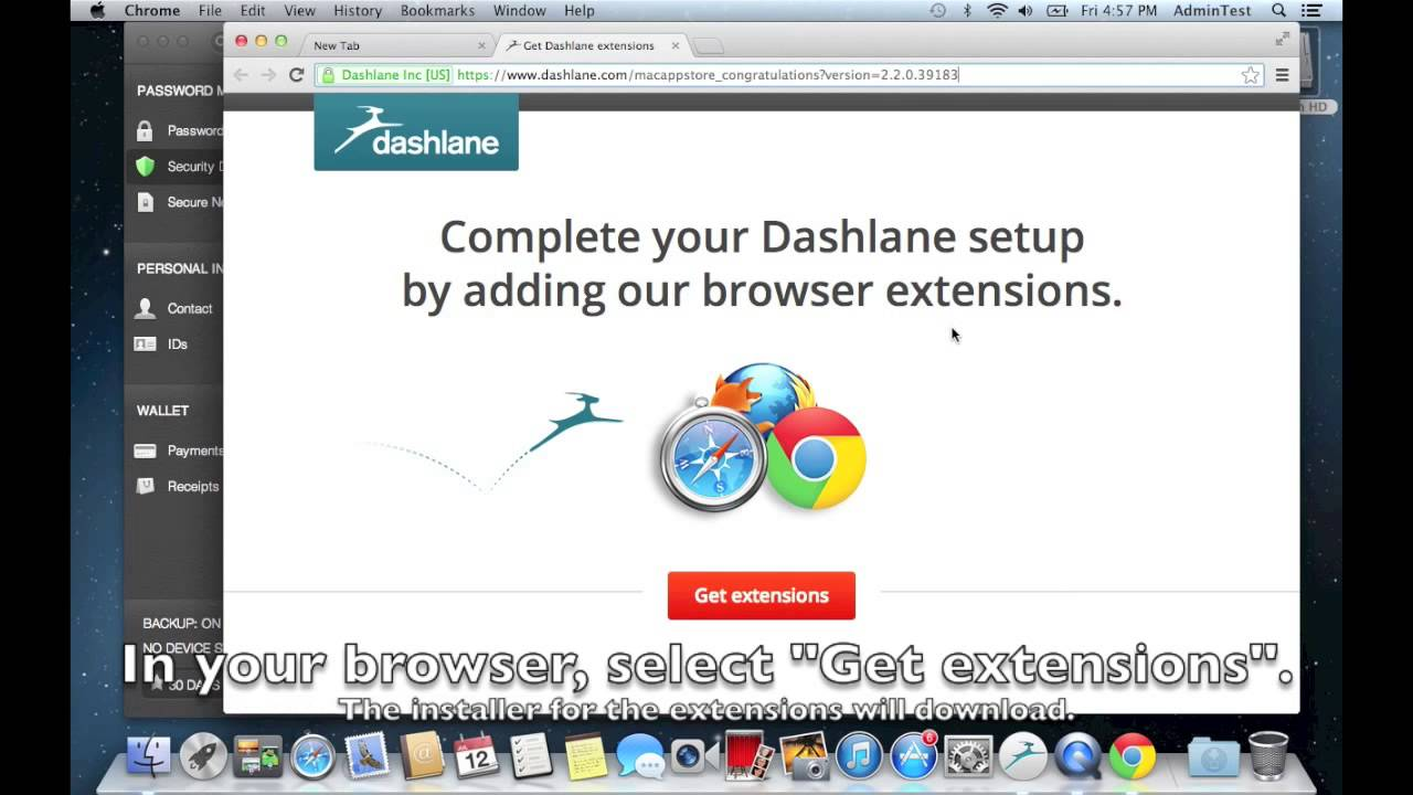 How to install Dashlane from the Mac App Store