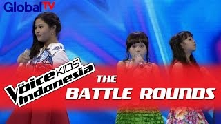 "Eygra vs Zahra vs Alsa ""How To Love"" I The Battle Rounds I The Voice Kids Indonesia 2016"
