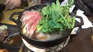 【肉】アッツアツの牛肉鍋にホルモンをIN!中野で肉ざんまいしてきた!!【東京行ってきた】