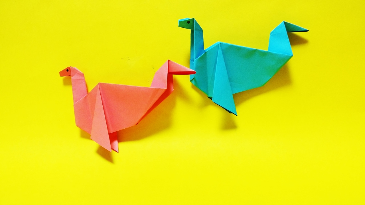 ������ ������� easy origami american loch ness monster paper