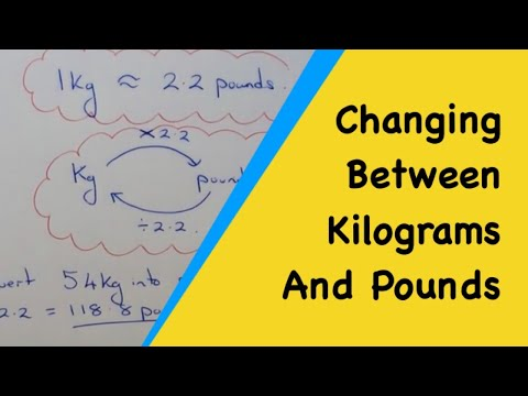 How To Convert Between Pounds And Kilograms 1kg Pounds