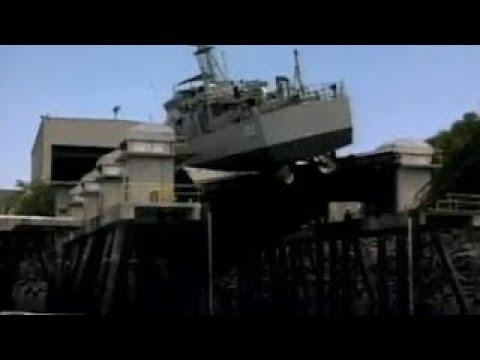 Platform Buckles Under Australian Navy Patrol Boat Full of Fuel & Ammunition & Falls into