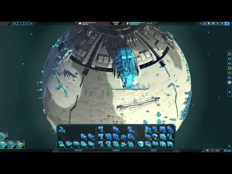 Planetary Annihilation 3v3v3 Team Armies : Unit Cannons across the sky