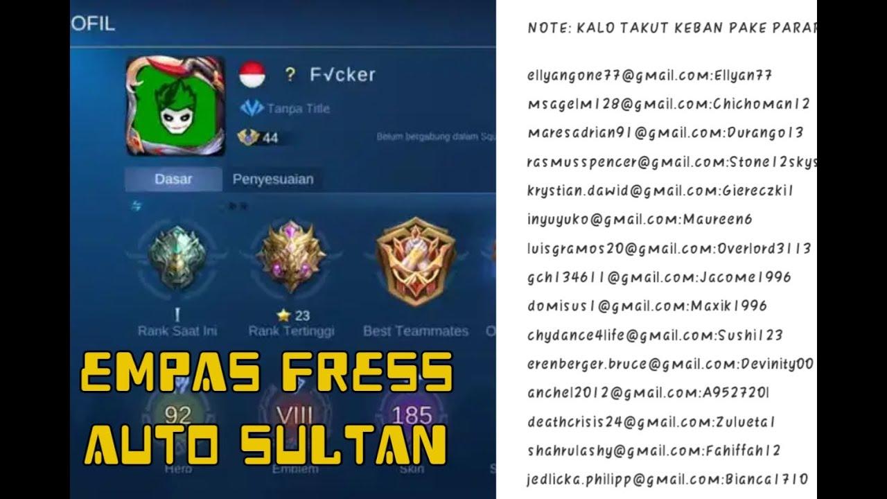 Bagi Bagi Unchek Mobile Legends Sultan Terbar Dijamin Sultan Link Di Deskripsi Youtube