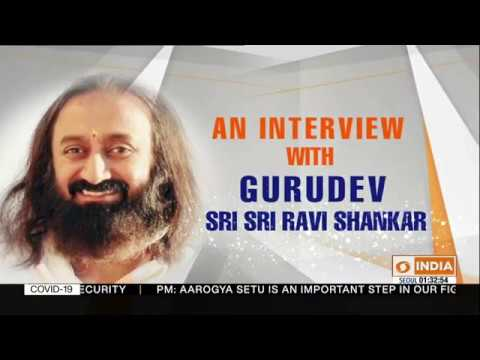Exclusive Interview Of Sri Sri Ravi Shankar With DD India | 08.04.2020