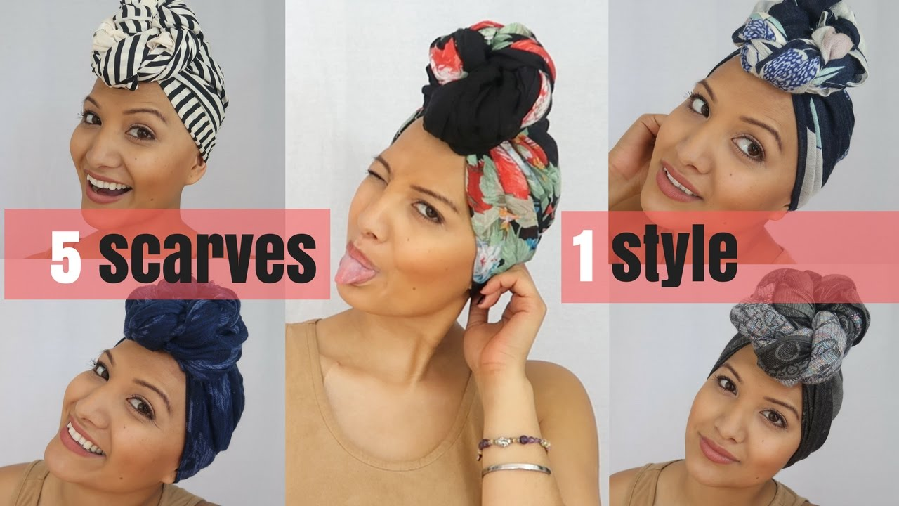 How To Tie A Headscarf Like Nalie Turban Tutorials Youtube