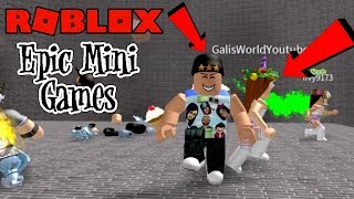 GALI & DAD PLAY EPIC MINI GAMES! ROBLOX | FAMBAM GAMING