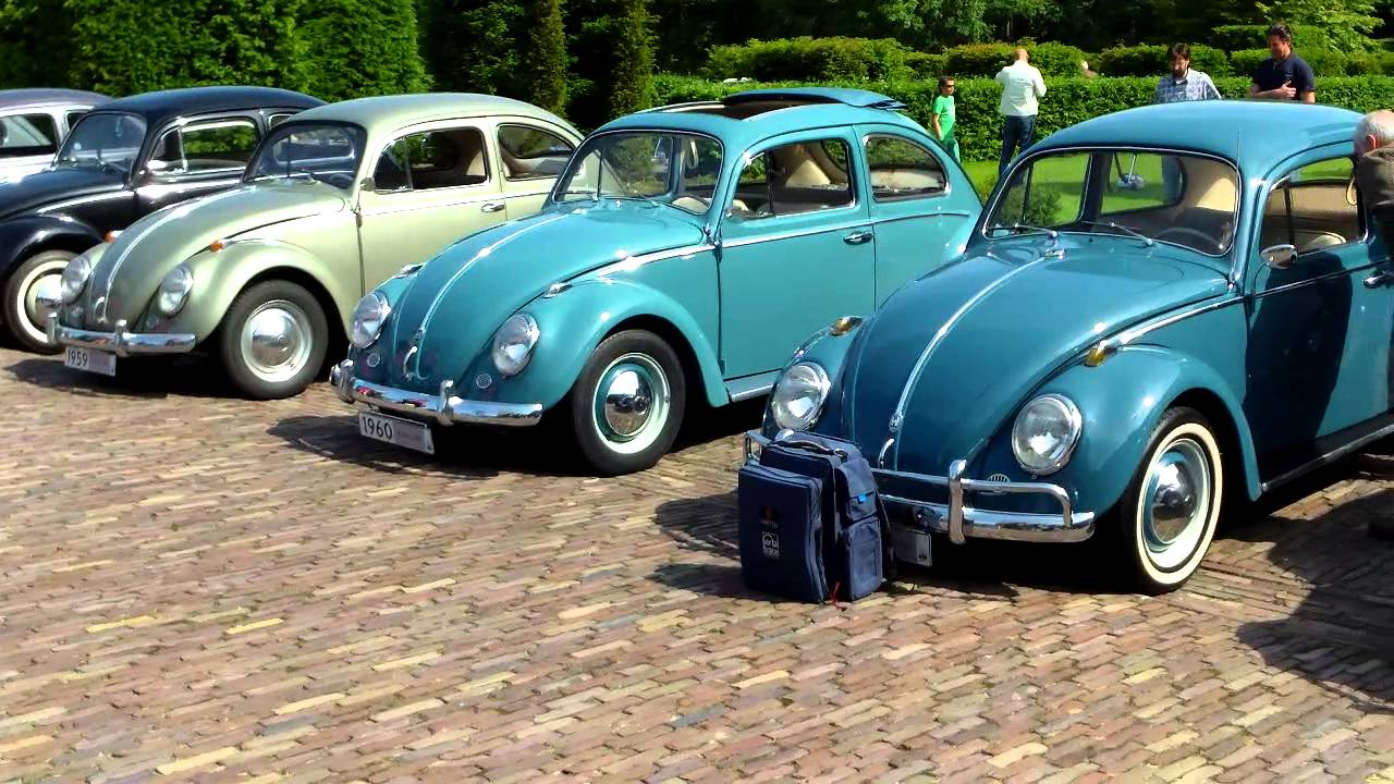 VW Beetle / Kever 1938 - 1967 Line Up , Louwman Museum 1.6.2014. - YouTube