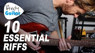 10 ESSENTIAL Minor Pentatonic RIFFS // Position 1 and BEYOND...