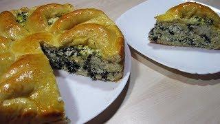 Пирог с брынзой и зеленью / Очень Вкусный  Сытный Простой рецепт