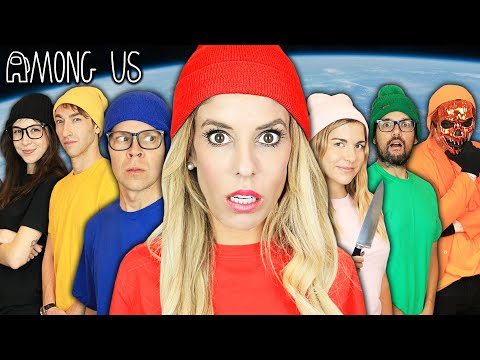 Giant AMONG US but In REAL LIFE Game! Imposter IQ 900+ Challenge | Rebecca Zamolo